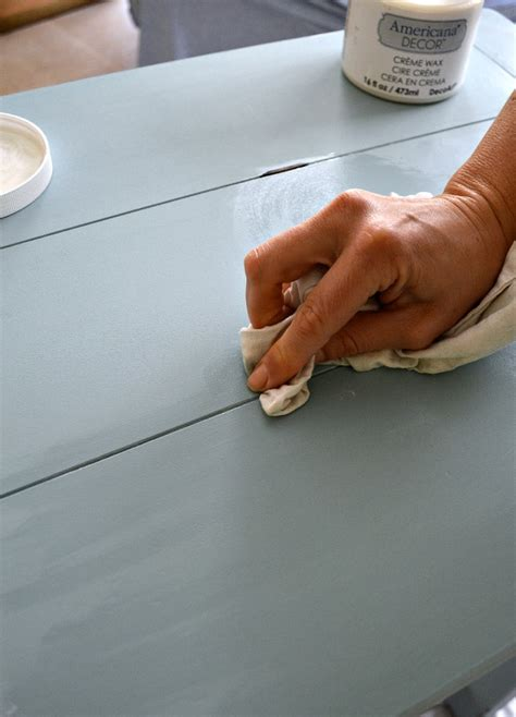 americana decor creme wax tutorial how to update furniture with chalky finish paint
