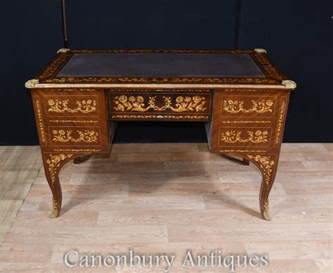 bureau louis louis xv knee desk writing table bureau inlay