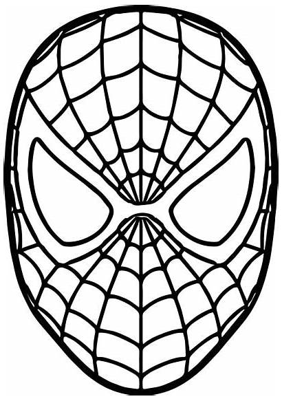 Mask Spiderman Coloring Pages Avengers Colouring Spider