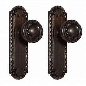 Twisted Rope Door Knob & Plate Set - Dummy - Hardware