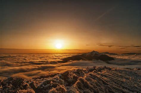 bieszczady national park poland mountain morning dawn hd