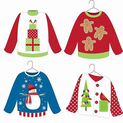 Christmas Sweater Clipart Ugly Crafts Arts Clip