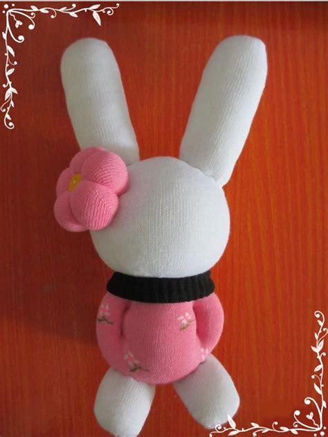 diy pretty bunny rabbit  sock
