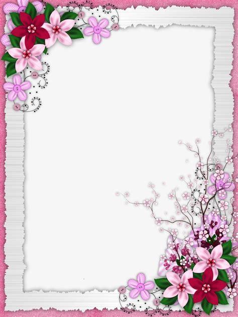 floral border design graphic design flowers frame png