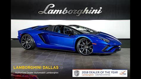 lamborghini aventador s roadster youtube 2019 lamborghini aventador s roadster blu nethuns 19l0125 youtube