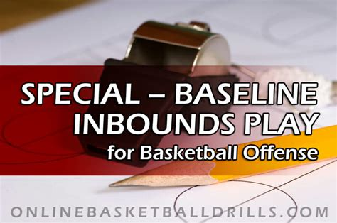 basketball inbounds play baseline offense special zone defense against