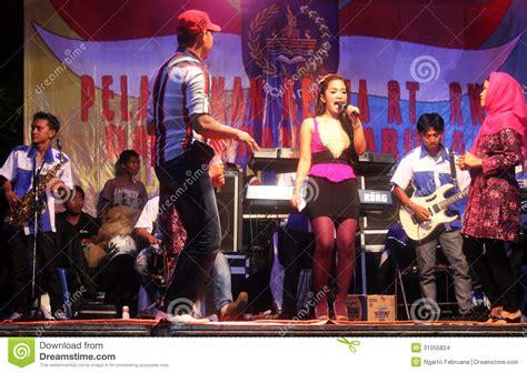 Indonesian Dangdut Music Performance Editorial Stock Image
