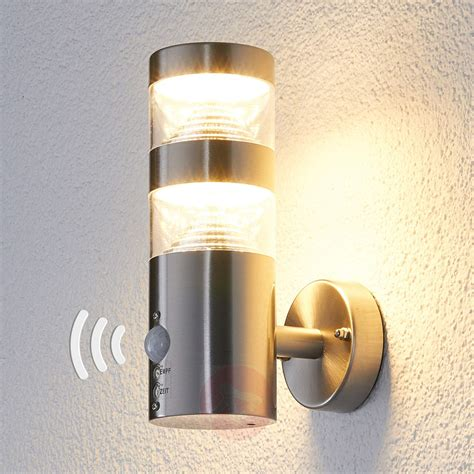 Led Outdoor Wall Light Lanea With Motion Sensor Lightscouk