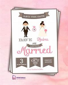 wedding invitation templates free 215 With caricature wedding invitations online free