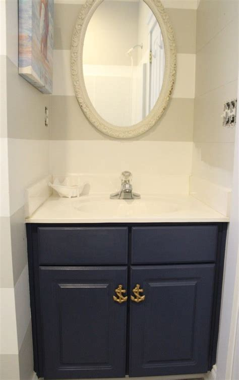 Bathroom Vanity Painted With Chalk Paint   DIY {Home Decor  </div> <div class=