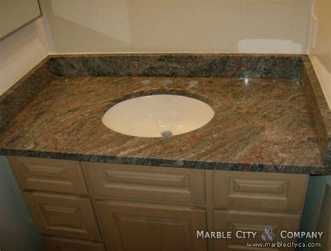 granite countertops for vanity and kitchen at