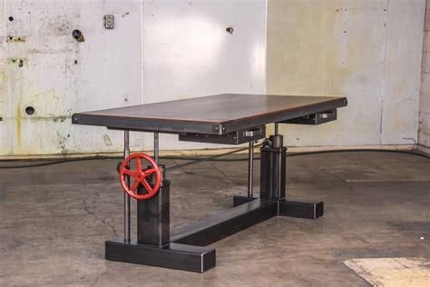 crank standing desk crank sit stand desk vintage industrial furniture