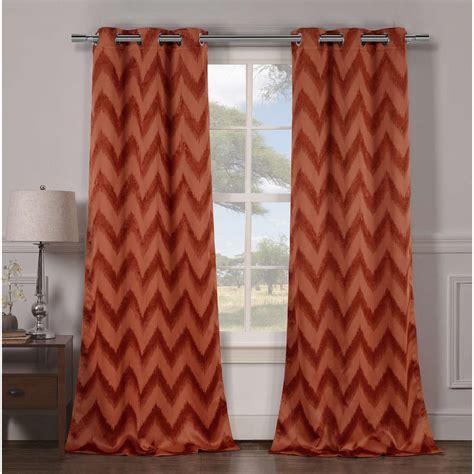 rust colored kitchen curtains duck river blackout lysanna 84 in l blackout grommet 4956