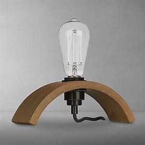 buy tom raffield archer table lamp oak john lewis With oak lamp table john lewis