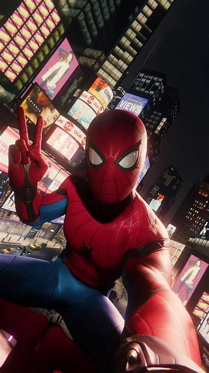 Spiderman Spider Iphone Wallpapers Mode Suit Ps4