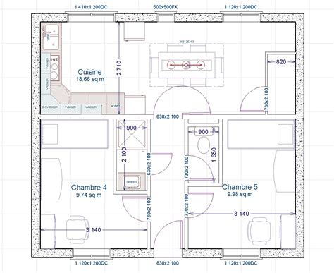 plan 3 chambres descriptif chambres etudiants