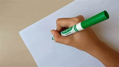 Markers Crayola Calligraphy Writing Thin Paper Upstroke
