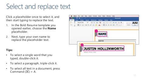 type resume on mac