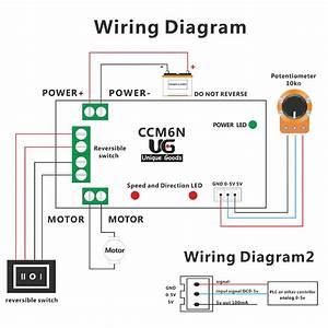 6v 12v 24v Pwm Dc Motor Speed Controller Reversible Switch