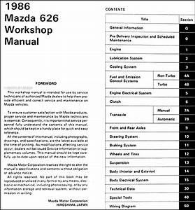 1979 Mazda 626 Wiring Diagram Service Repair Manual