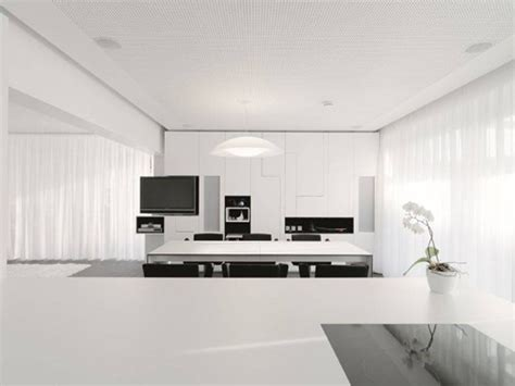 A Minimalist Modern Apartment In White by White Minimalist Kitchen Design Iroonie