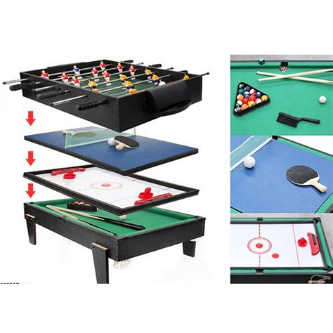 air hockey and football table 4 in 1 multi game table pool air hockey table tennis