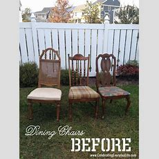 How To Recover A Dining Room Chair  Celebrating Everyday