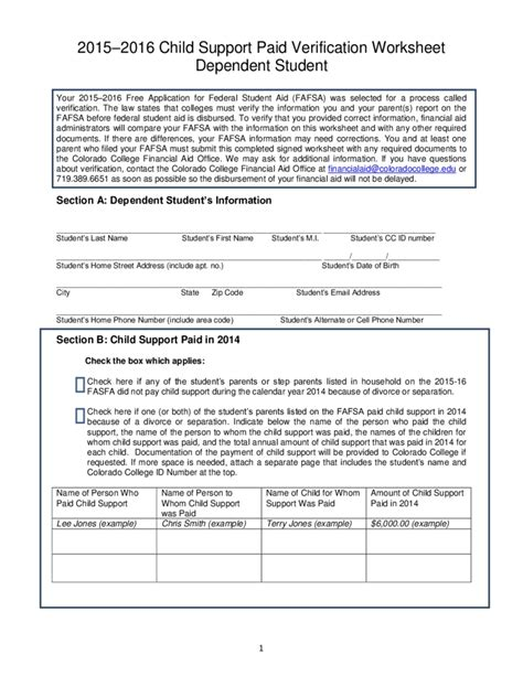 colorado child support worksheet excel qualads
