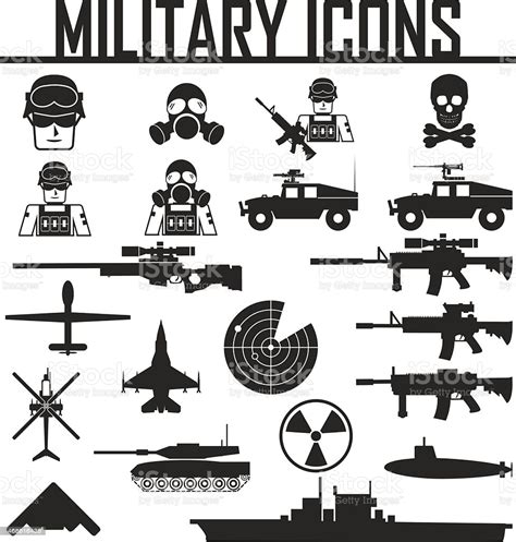21,000+ vectors, stock photos & psd files. Military Icons Vector Illustration Eps 10 Stock ...