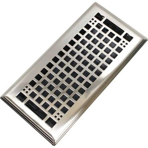 home depot floor vents modern homes egg crate 4 in x 10 in steel floor register in brushed nickel 87301 the home depot