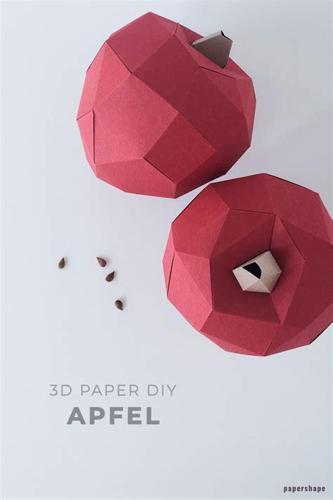 diy aepfel aus papier als herbstdeko basteln kostenlose