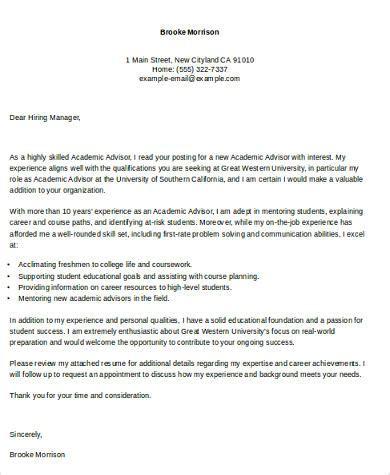 Academic Advisor Resume Exles by Cover Letter For Faculty Position Sle Resume Cv Cover Letter