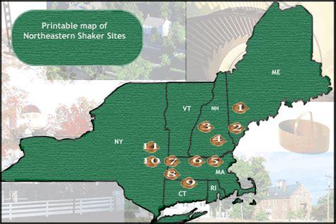 shaker style map of shaker shaker historic trail national