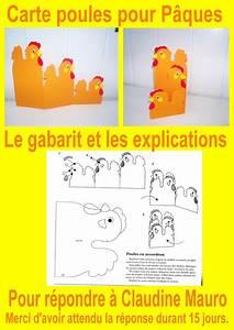 Poule Pour Paques : gabarit de la carte poules pour p ques en r ponse ~ Zukunftsfamilie.com Idées de Décoration