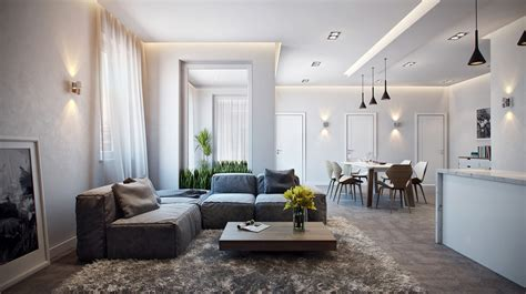 Stylish Apartment In Germany [visualized]. Mirrored Canopy Bed. Small Kitchen Table Ideas. Black Iron Pendant Light. Melamine Cabinets. Ikea Bar Stools. Seafoam Green Chair. White Leather Headboard. 4ft Bathtubs