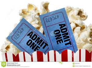 Two Movie Tickets and Popcorn