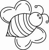 Coloring Bumblebee Printable Bees Colorare Disegni Cuore Ali Boyama Pattern Beehive Biene Imprimir Forma Bee Bumble Dibujos Colorear Ape Ausmalbilder sketch template