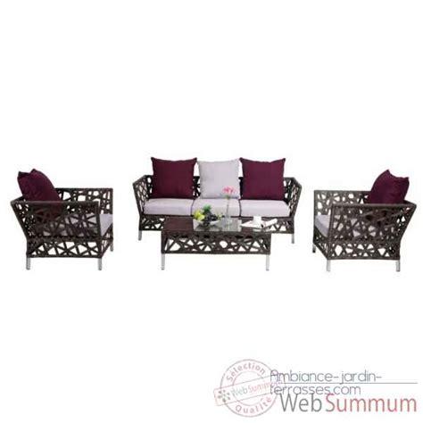 canapé chalet canapé 3 places chalet jardin dans mobilier résine tressée