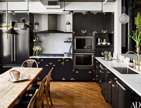 kitchen york kitchens ken fulk space architectural digest luxury loft cabinets island brass architecturaldigest tour unusual decoration decor interior room