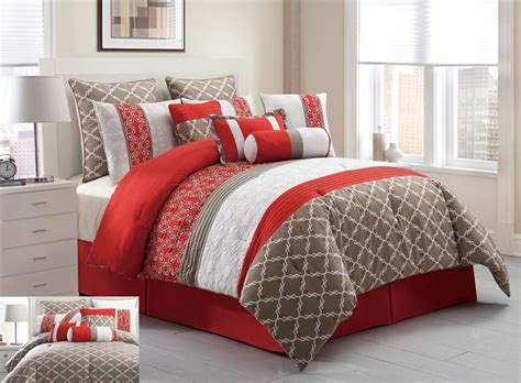 King Size Bedspreads And Regarding Red Comforter Sets Plan