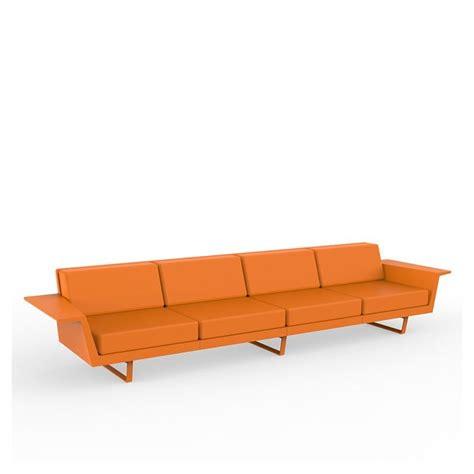 canapé droit 4 places flat canapé droit 4 places canapé outdoor vondom