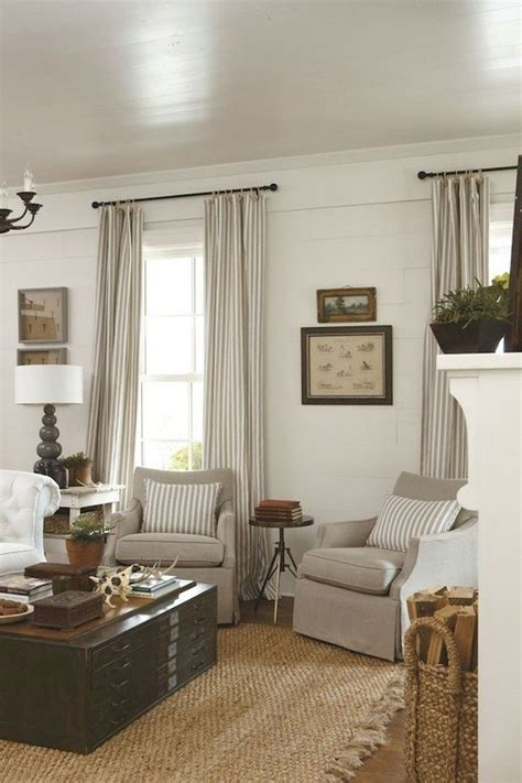 awesome modern farmhouse curtains  living room