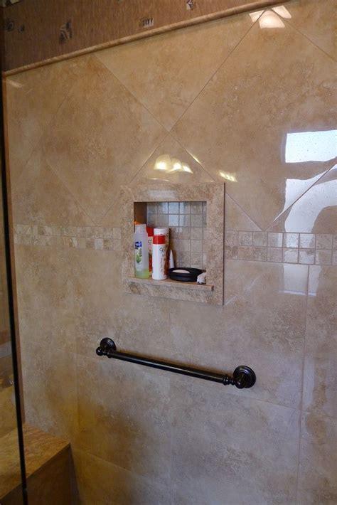 carmel travertine shower sills bull nose  top edge