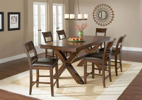 Park Avenue Counter Height Dining Table (Dark Cherry
