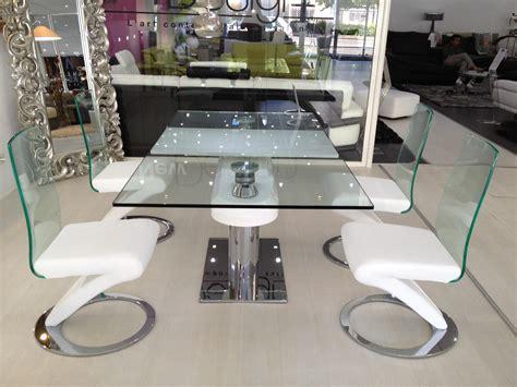 canapé buffle table salle à manger design en verre avec rallonges