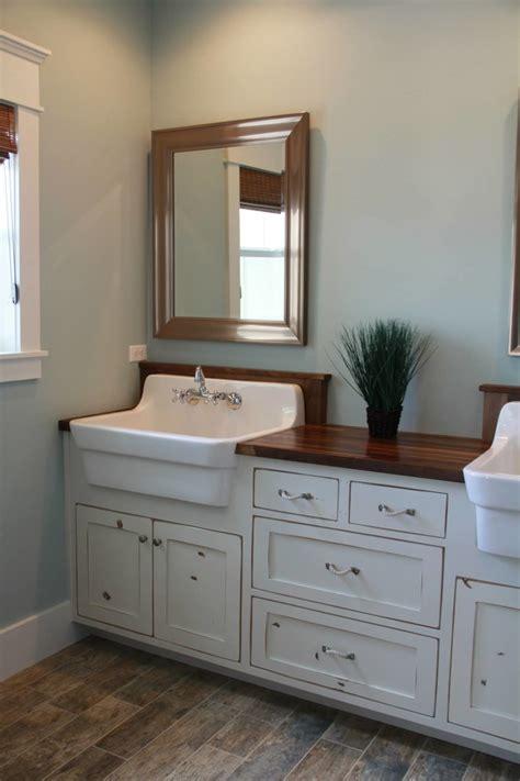 narrow bathroom vanities small bathrooms farmhouse sink vanity bathroom craftsman with basket