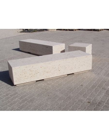 Panchina Cemento by Panchina Rettangolare Monoblocco In Calcestruzzo Bianco
