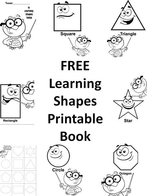draw shapes printable book  preschool kids