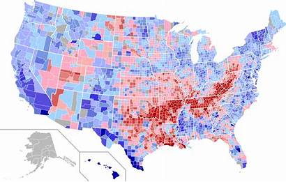 Election Presidential Map 2004 Usa County Swing