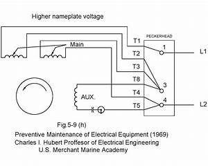 Dual Voltage Single Phase Motor Wiring Diagrams Circuit